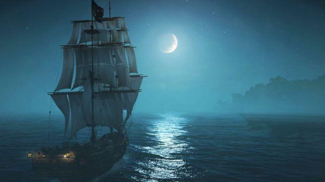 Ship Night Moon via Wallpaper Up by Mamaru